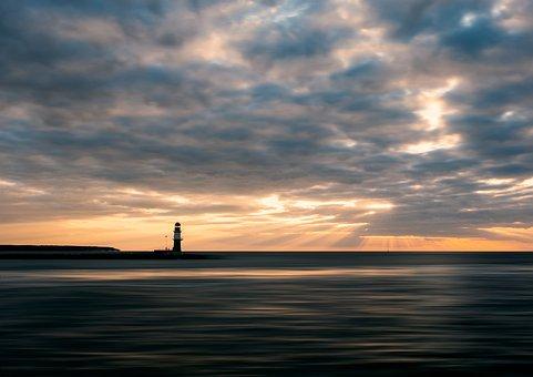Sunset, Sea, Ocean, Sky, Nature, Sun, Water, Twilight