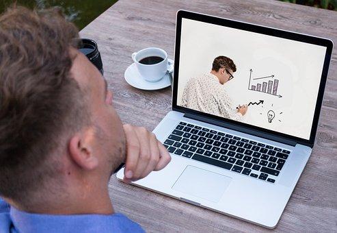 Webinar, Laptop, Teacher, Online, Course, Elearning
