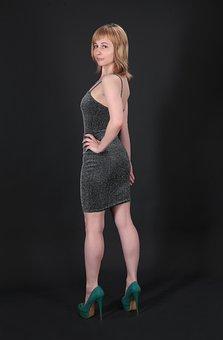 Little Black Dress, Fashion, Model, Portrait, Woman