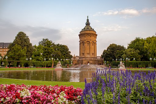 Mannheim, Water Tower, Architecture, Places Of Interest