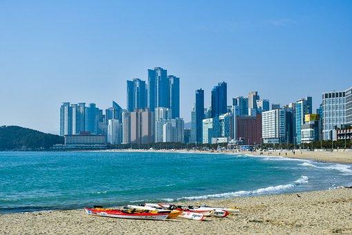 Beach, Buildings, Sand, Coast, Shoreline, Shore