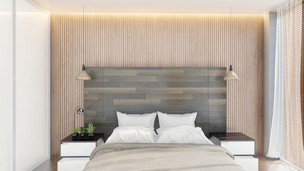 Dormitorio, Interior, Iluminación, Diseño, Arquitectura