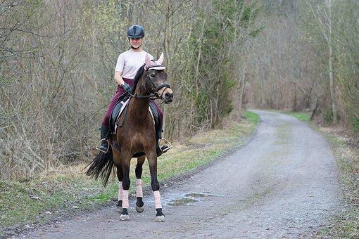 Horseback Riding, Horse, Girl, Pony, Riding Pony
