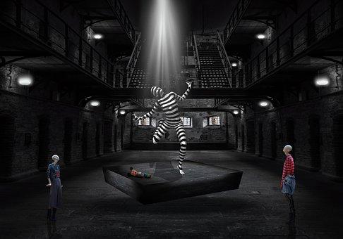 Surreal Fantasy, Jail, Dancing, Mannequins, Stage