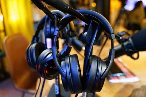 Headphones, Audio Recording, Podcast, Sound, Voice, Mic