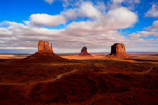 Monument Valley, Sandstones, Desert, Sandstone Buttes