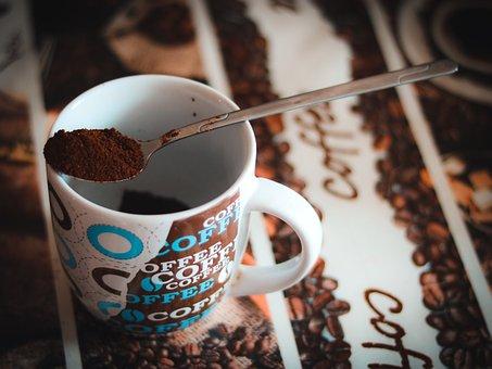 Kava, Mug, Cup, Spoon, Piti, Kitchen, Snidanok, Drink