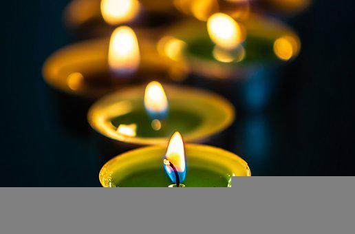 Candles, Lights, Prayer, Candlelights, Flames