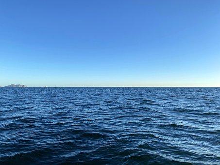 Sea, Water, Blue, Waves, Ocean, Sky, Horizon, Seascape