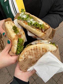 Burger, Pita, Vegetarian, Organic, Food, Nutrition