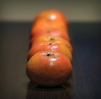 Tangerines, Citrus, Fruits, Oranges, Fresh, Ripe