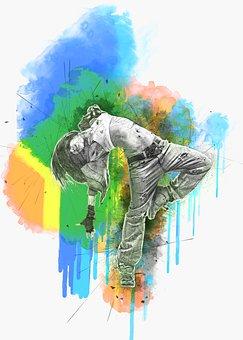 Woman, Dancing, Photo Art, Girl, Pose, Hip Hop