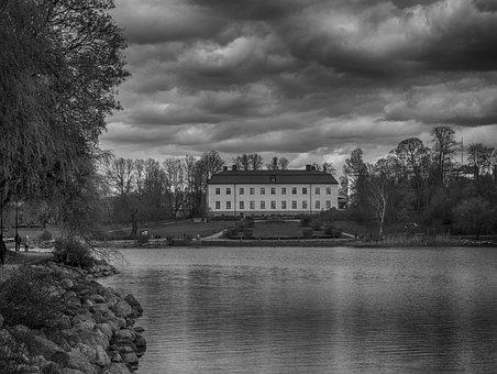 Sea, House, Building, Island, Stockholm, Nature, Travel