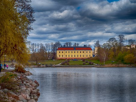 House, Lake, Sea, Island, Stockholm, Nature, Travel