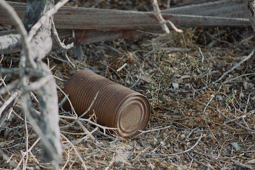 Can, Desert, Joshua, Tree, California, Old, Abandoned