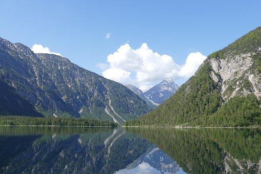 Mountains, Lake, Reflection, Water, Alps