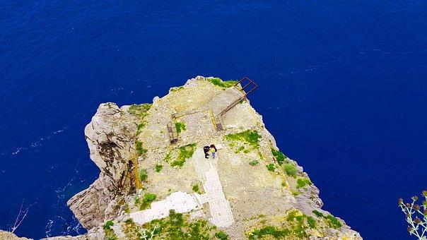 Punta Campanella, Cliff, Sea, Ocean, Coast, Coastline