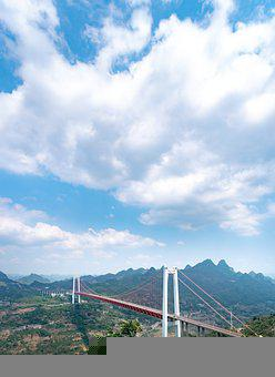 Baling River Bridge, Sky, Cloud, Mountain, Structure