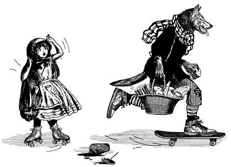 Wolf, Girl, Little Red Riding Hood, Thief, Tale