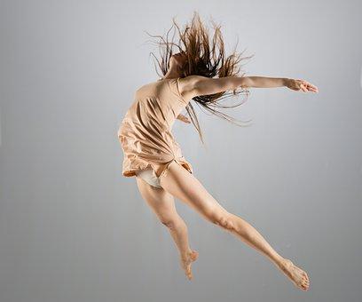 Dancing, Jump, Woman, Girl, Young, Ballet, Ballerina