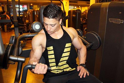 Bodybuilding, Exercise, Academy, Kid, Man, Training