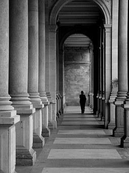 B W Photography, Architecture, The Colonnade