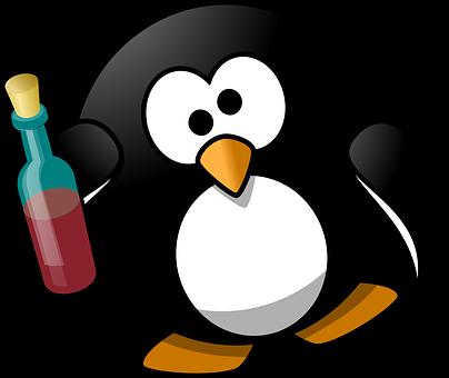 Tux, Alcohol, Alcoholic, Animal, Bird, Booze, Boozy