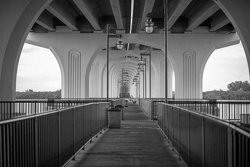 Bridge, Fishing, Fishing Bridge, Pier, River