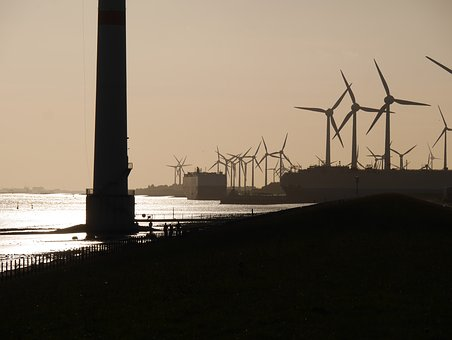 Evening Light, Ems, Harbour Entrance, Power Generators