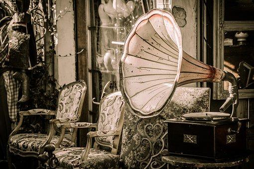 Flea Market, Old, Junk, Nostalgia, Vintage, Gramophone