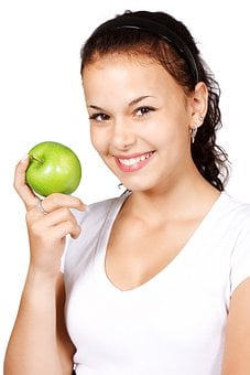 Apple, Diet, Healthy, Eating, Food, Fruit, Green, Hand