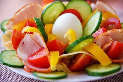 Breakfast, Dinner, Egg, Food, Fresh, Green, Ham