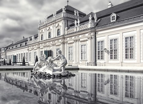 Vienna, Austria, Lock, Castles, Reflection, Garden