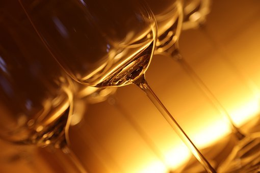 Glasses, Glass, Drink, Lichtspiel, Illuminated
