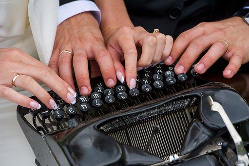 Manicure, Fingers, Typewriter, Hands, Ring, Wedding