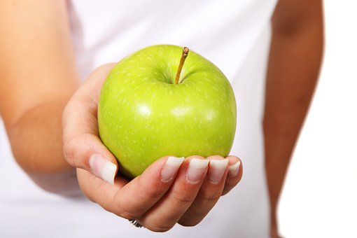 Apple, Diet, Finger, Food, Fruit, Green, Hand, Healthy