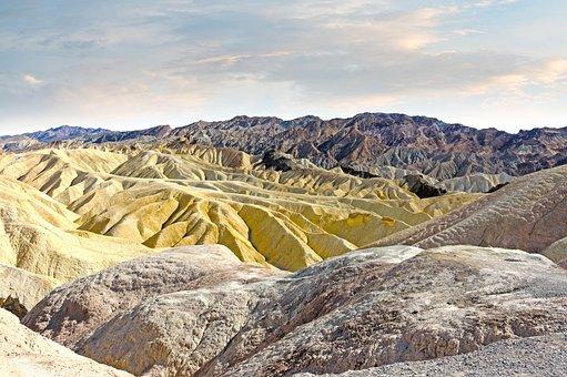 Mountains, Colors, Sandstone, Ridges, Death Valley
