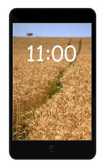 Smartfone, Black, New, Button, Camera, Ccd, Clock