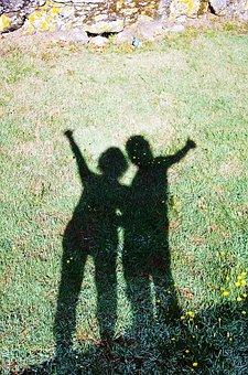 Orio, Galicia, Shadows, Greeting, Two, Prado, Shadow