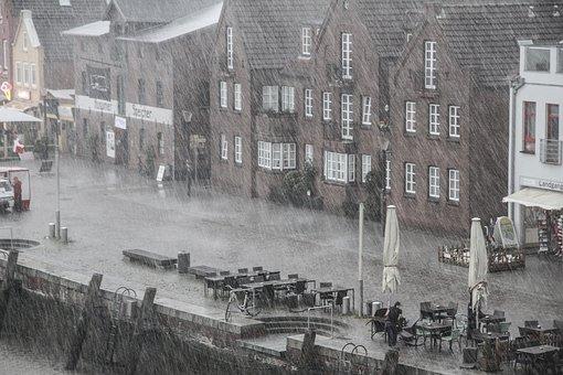 Rain, Rainy Weather, Bad Weather, Port, Wet