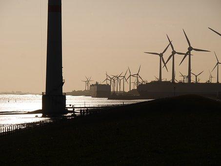 Evening Light, Ems, Harbour Entrance, Power Generators