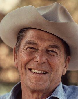 Cowboy, Ronald Reagan, Cowboy Hat, Hat, President