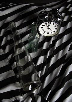 Time, Clock, Alarm Clock, Glass, Studio