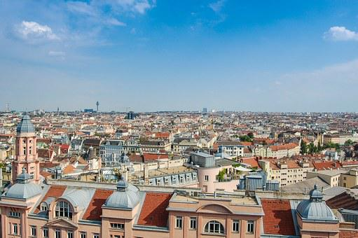 Panorama, Vienna, Austria, City, View, Building