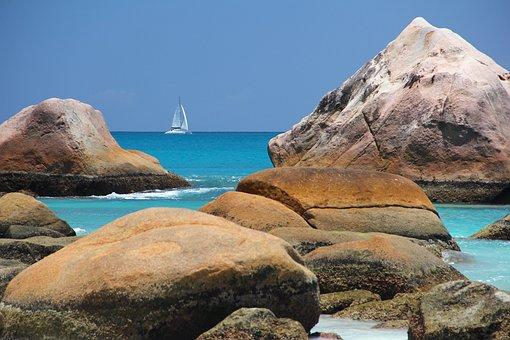Sea, Boot, Seychelles, Water, Ship, Caribbean, Maldives