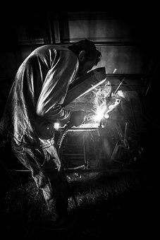 Worker, Sweat, Labor, Master, Sb, Black And White