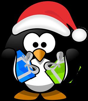 Christmas, Santa Claus, Tux, Xmas, Cap, Hat, Holidays