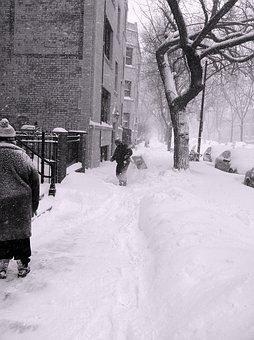 Chicago, Illinois, City, Winter, Snow, Ice, Buildings