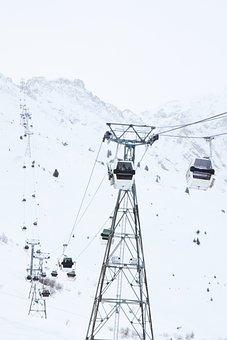 Air, Alpine, Cabin, Cable, Car, Cold, Gondola, High