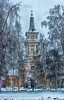 Oulu, Finland, Cathedral, Church, Building